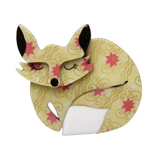 Sasha Sleeping Fox Brooch