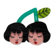 Cherry Twins Brooch