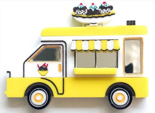 Sweet Yellow Gold - Ice Cream Truck brooch
