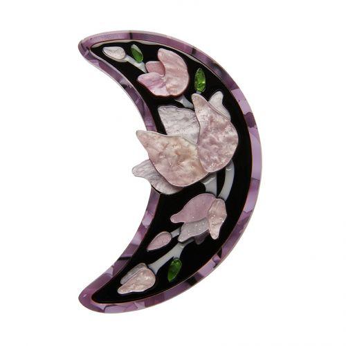 Steel Magnolias brooch (lilac)