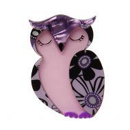 Olive Owl Brooch