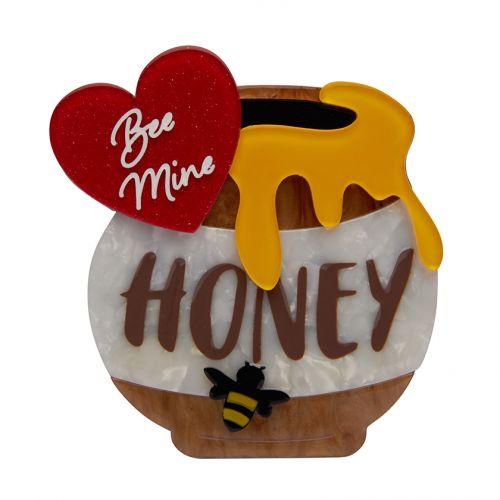 Bee Mine, Honey Brooch