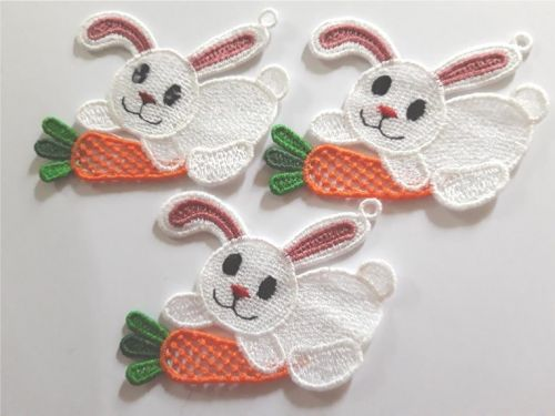 Easter Bunny lace decoration