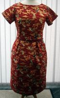 Lucy dress in Red Koi print