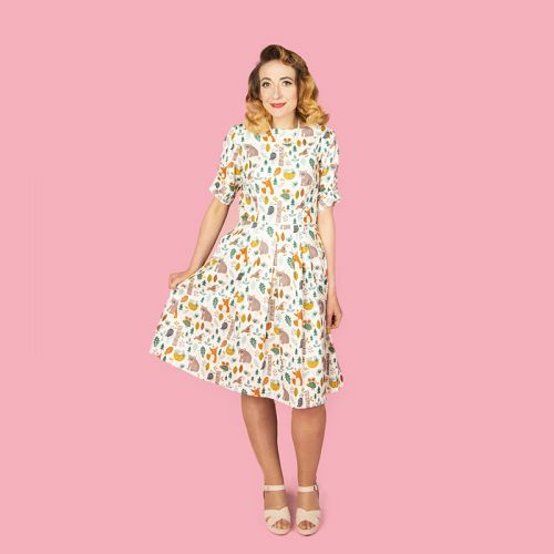 Pre-order: Lucy dress in Woodland fabric