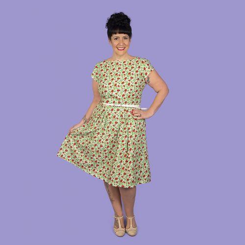 Ladybird dress, short sleeves, pockets