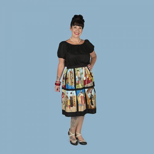 1920s ladies panel straight skirt (no pockets)