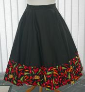 Chilli Pepper circle skirt
