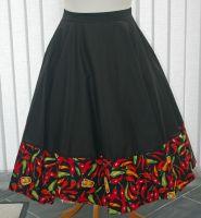 Chilli Pepper circle skirt