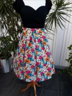 Fun fabric swing skirt with pockets