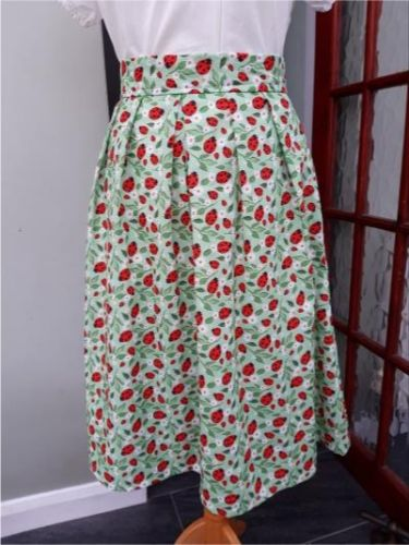 Pre-order: Ladybird swing skirt, pockets, pleats
