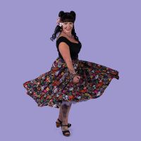Masquerade circle skirt with elasticated waist (regular)