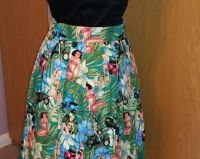 Girls on scooters swing skirt with pockets