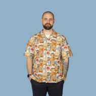Aussie themed Men's casual shirt