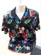 Black Hawaiian Men's casual shirt