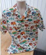 Getaway retro camping, caravans Men's casual shirt