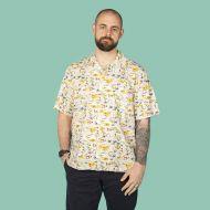 Men's casual shirt Hawaiian theme motifs