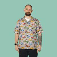 Custom cars, hot rods, USA automobiles, Men's casual shirt