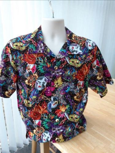 Masquerade, carnival, masks themed men's casual shirt
