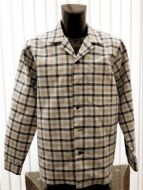 Checked long sleeved casual shirt (recycled fabric)