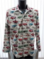 MG themed Men's long sleeved casual shirt
