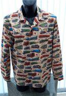Steam Train themed Men's long sleeved casual shirt