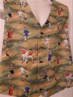 Football, soccer themed men's waistcoat vest