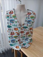Getaway, vacation, holiday, camping, retro, trailer, caravans, men's waistcoat vest