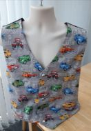 Hot Rod, custom car themed men's waistcoat vest (grey)