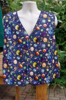 Space Planets Solar System themed men's waistcoat vest