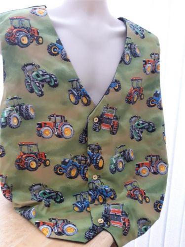Tractors/farming themed men's waistcoat vest