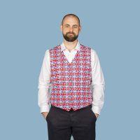 Union Jack men's waistcoat vest