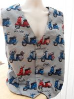 Vespa scooter themed men's waistcoat vest