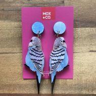 Budgie drop earrings (blue)