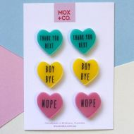 Candy Heart Stud earrings (pack of 3)