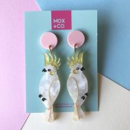 Cockatoo drop earrings