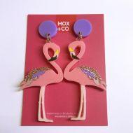Flamingo drop earrings
