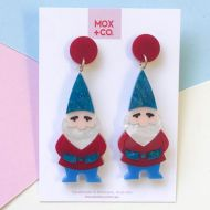 Garden Gnome drop earrings