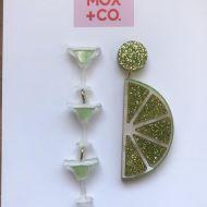 Line & Margarita drop earrings