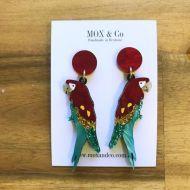 Macaw drop earrings