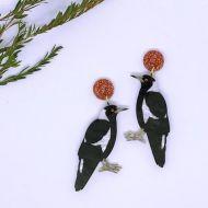 Magpie drop earrings