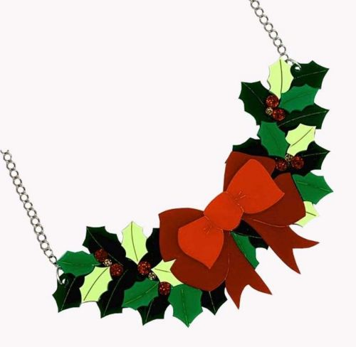 Bows and Holly necklace