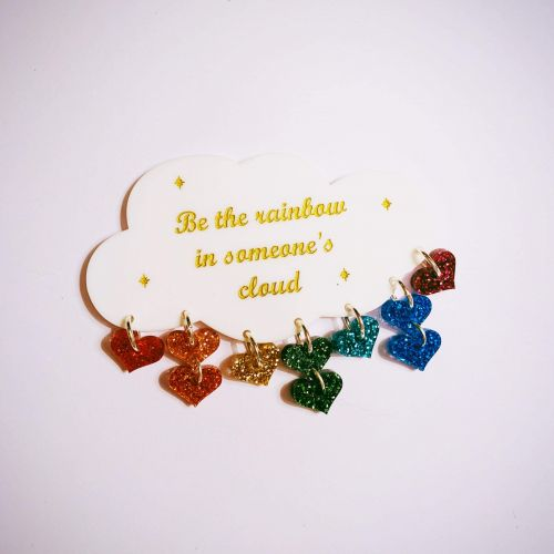 Be the Rainbow in Someone's Cloud  Brooch