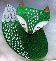 Pre-order: Glitter Fox (green)